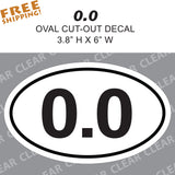 "0.0 OVAL 6"" Sticker Novelty Anti-running Marathon Half-Marathon Joking Funny"