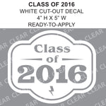 "CLASS OF 2016 - 5"" Cut-Out Vinyl Lettering"