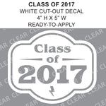 "CLASS OF 2017 - 5"" Cut-Out Vinyl Lettering"