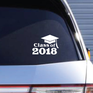 "CLASS OF 2018 - 5"" Cut-Out Vinyl Lettering"