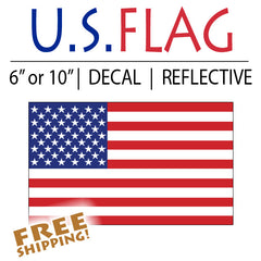 Reflective American Flag Sticker - Standard