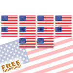 "U.S. FLAG 2"" Vinyl Sticker Small - 4 or 10 Pack"