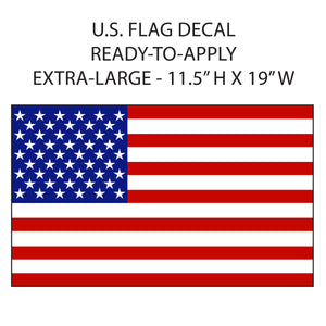 "U.S. FLAG 19"" Vinyl Sticker"