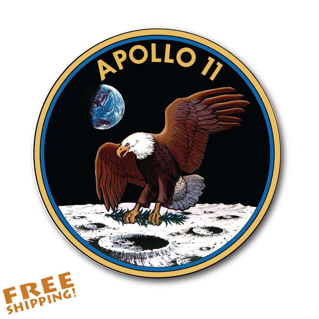 "NASA APOLLO 11 - 4"" Circle Vinyl Sticker - American Novelty"