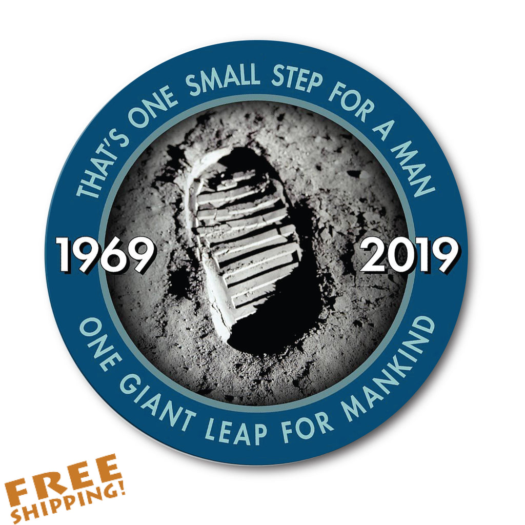 "NASA APOLLO 11 - 50th ANNIVERSARY 4"" Vinyl Sticker"