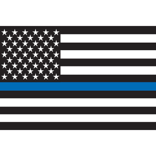 "THIN BLUE LINE 2"" - 4 Pack Vinyl Stickers"
