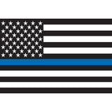 Blue Lives Matter Reflective Flag Stickers - Small