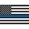 "THIN BLUE LINE 2"" or 5"" Reflective Vinyl Sticker"