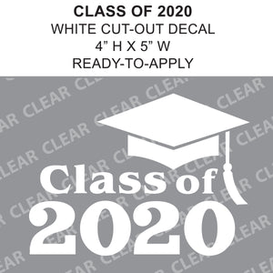 "CLASS OF 2020 - 5"" Cut-Out Vinyl Lettering"