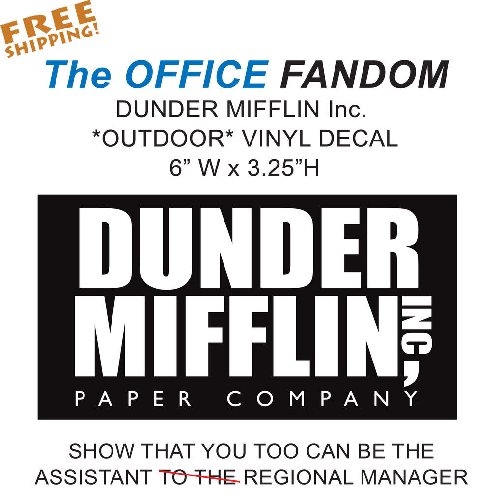 "DUNDER MIFFLIN The OFFICE 6"" Vinyl Sticker Novelty"