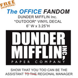"DUNDER MIFFLIN The OFFICE 6"" Sticker - Paper Company - Outdoor - Novelty"