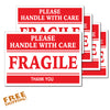 "FRAGILE 5"" - 5 pack Vinyl Sticker UPS FEDEX USPS Business"