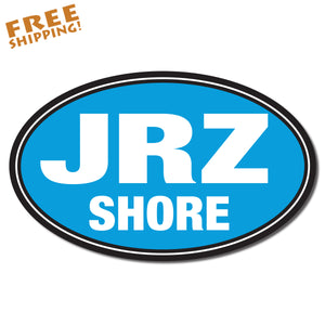 "JRZ SHORE OVAL 6"" Vinyl Sticker Jersey Shore Novelty"