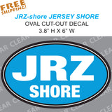 JRZ Shore - Jersey Shore Full Color OVAL Sticker - Novelty