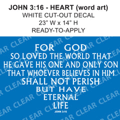 John 3:16 JESUS BELIEVE Bible decal Cut-out sticker sign // car-home-garage // Ready-to-Apply