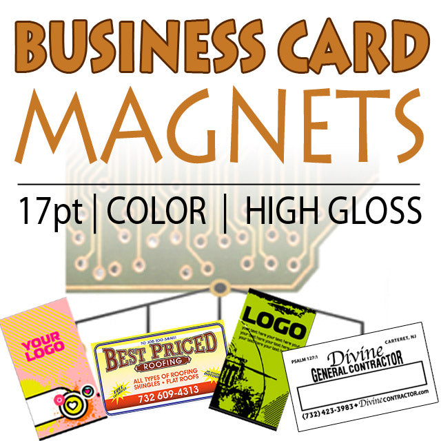 Magnetic Business Cards 17pt - Business