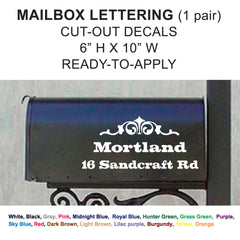 Mailbox Cut-out Lettering White vinyl decal - Business