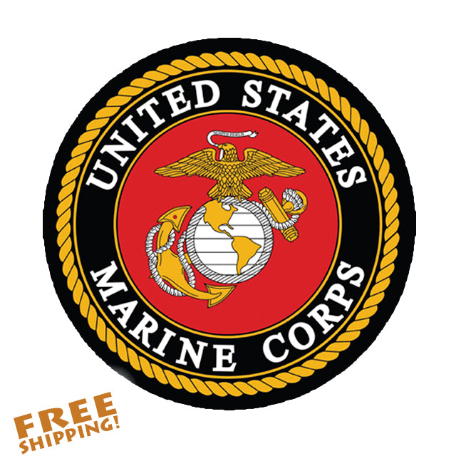 "MARINES USMC 4"" Circle Vinyl Sticker"