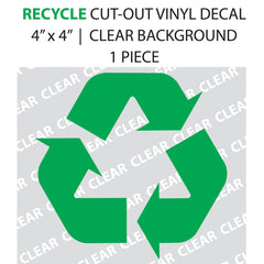 Recycle Cut-out Lettering Green vinyl decal
