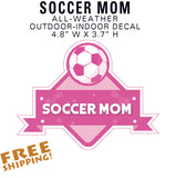 SOCCER MOM Full-Color Sticker Decal Team Mom - American Football - Novelty