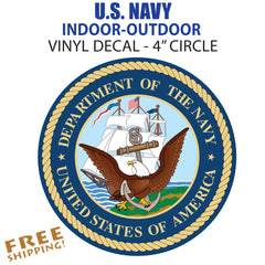 "U.S. Navy 4"" LARGE Vinyl Decal Glossy Sticker Go Navy"