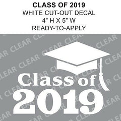 Class Of 2019 Graduation Cut-out White vinyl decal