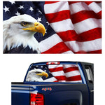 "BALD EAGLE U.S. FLAG 60"" Window Perforated Vinyl Sticker"