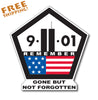 "9/11 SEPTEMBER 11 - 18"" X-Large Vinyl Sticker WE REMEMBER"