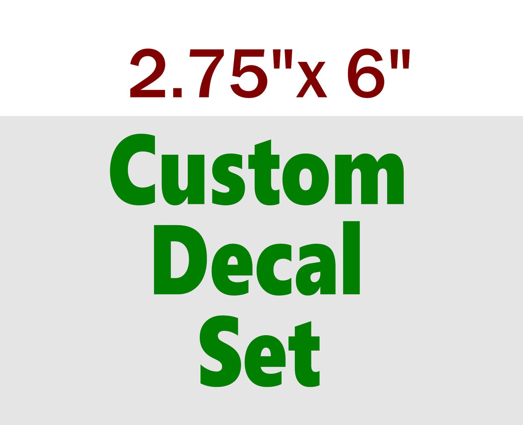 "CUSTOM VINYL STICKERS 2.75x6"" - Business Novelty"