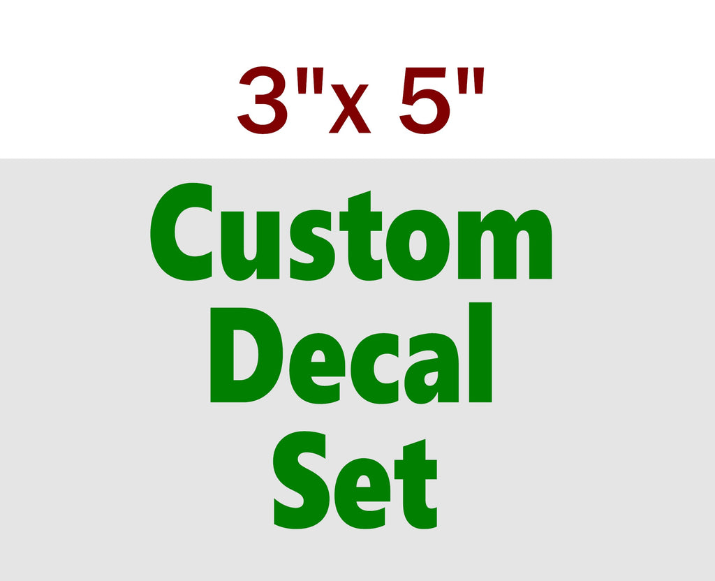 "CUSTOM VINYL STICKERS 3x5"" - Business Novelty"