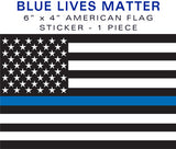 Blue Lives Matter Flag Sticker - Standard