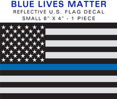 Blue Lives Matter Reflective Flag Sticker