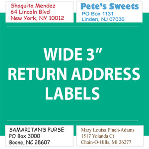 "RETURN ADDRESS LABELS 3"" Wide - Business Personalized"