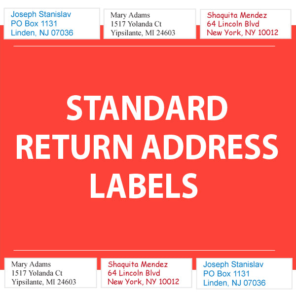 "RETURN ADDRESS LABELS 2"" Wide - Business Personalized"