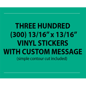 "CUSTOM VINYL STICKERS 0.8125""x0.8125"" - Business"