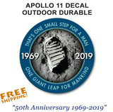 NASA 50th Anniversary Sticker 4""
