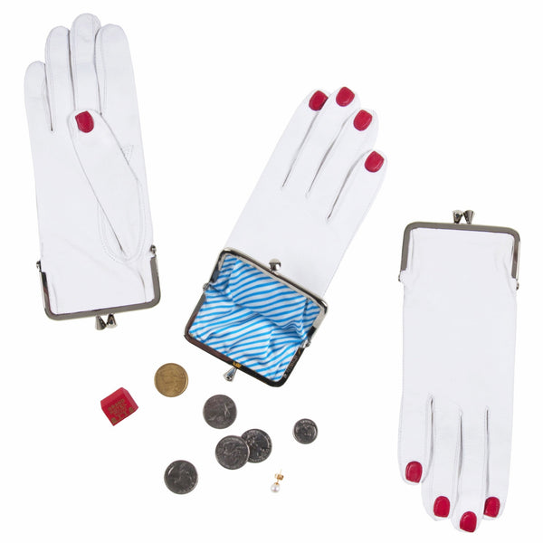 Glove Coin Purse (White)