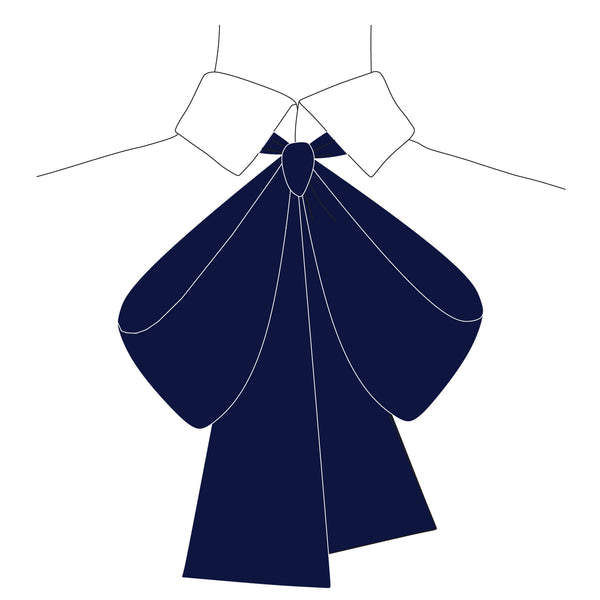 Silk Bow (Navy)