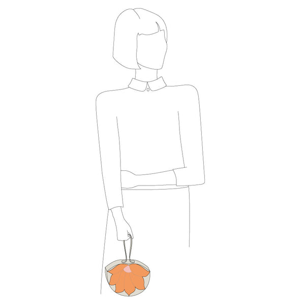 Flower Handbag (Peach)