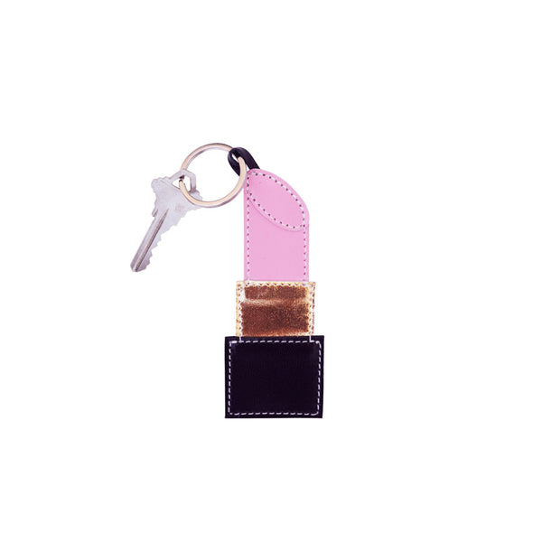 NEW Lipstick Key Fob (Pink)