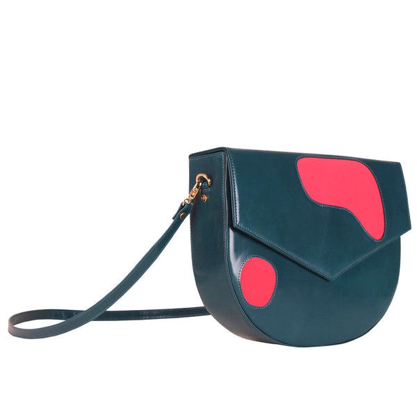 Welcomecompanions Classic Saddle Bag in Blue