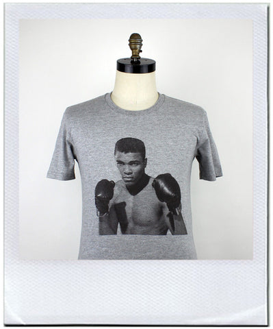 Muhammad Ali on a t-shirt by duncan mclean Wellington New Zealand