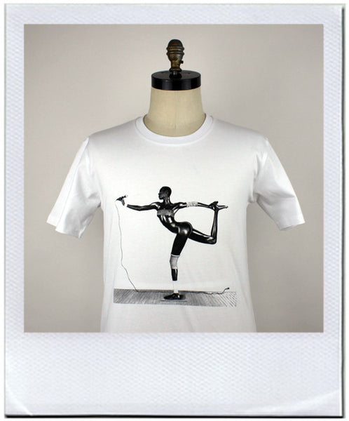 Grace Jones print t-shirt by duncan mclean jeans shop Wellington New Zealand