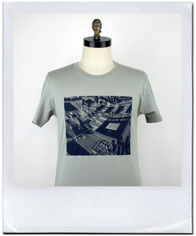 Silicon chip Welly print t-shirt by duncan mclean Wellington New Zealand
