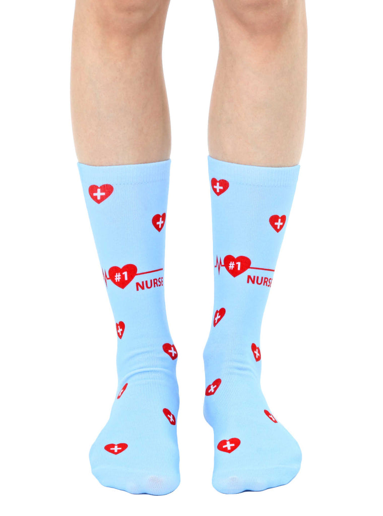 #1 Nurse Crew Socks