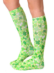 4 Leaf Clover Knee High Socks