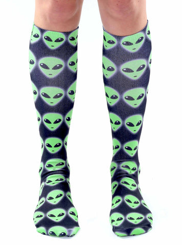 Alien Knee High Socks