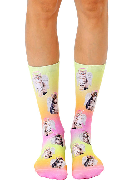 Angel Kittens Crew Socks