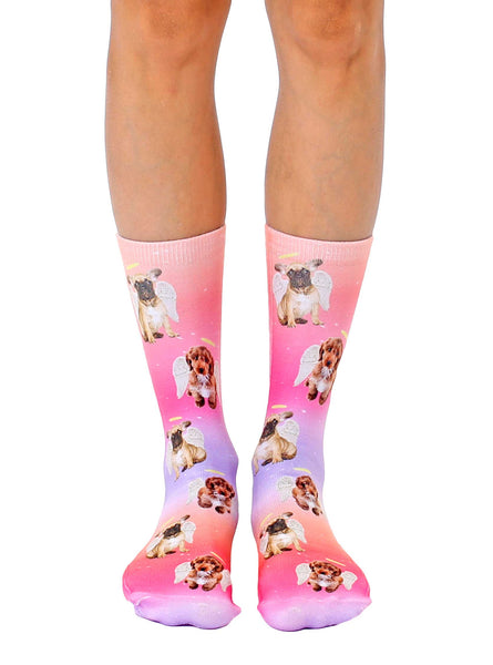 Angel Puppies Crew Socks