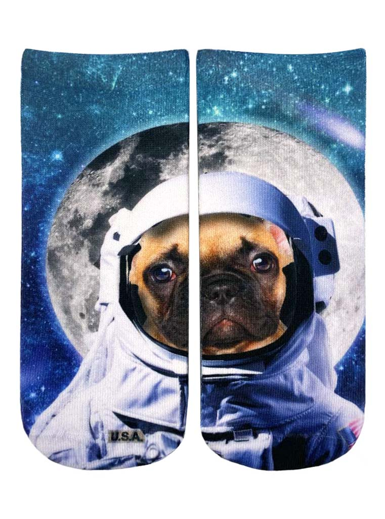 Astronaut Dog Ankle Socks